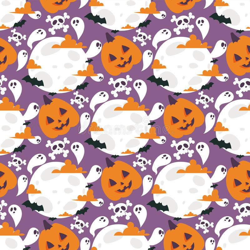Illustrazione senza cuciture di vettore del fondo del modello di carnevale di Halloween illustrazione vettoriale