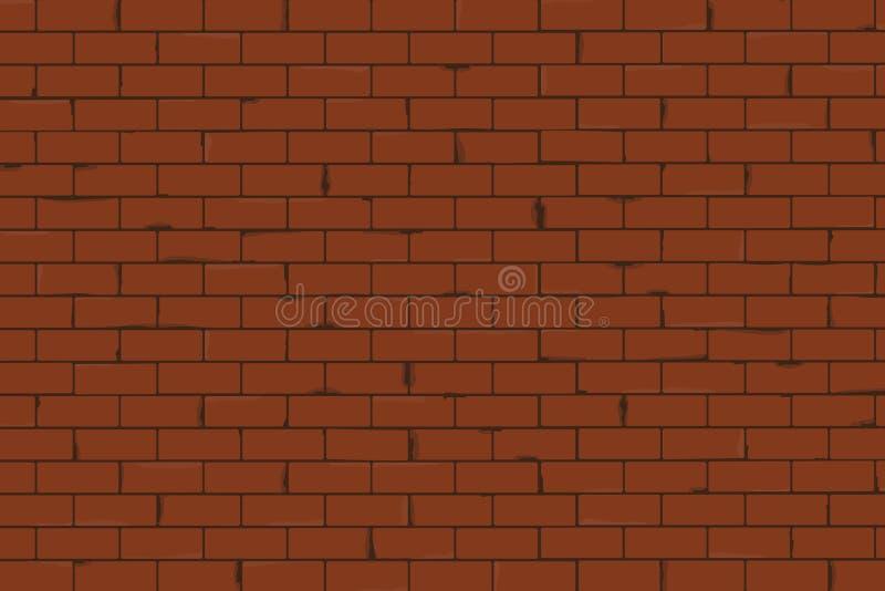 Illustrazione senza cuciture di vettore di struttura del muro di mattoni illustrazione vettoriale