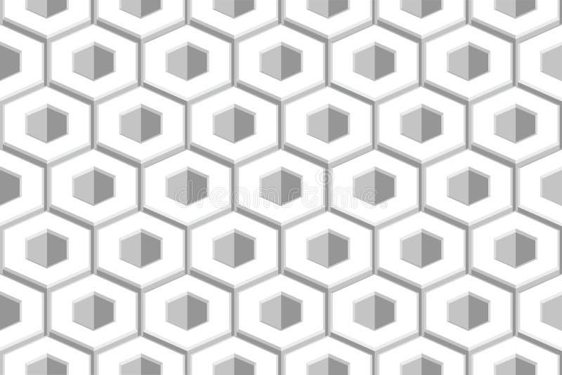 Illustrazione senza cuciture geometrica di vettore del modello del favo dell'estratto di esagono illustrazione vettoriale