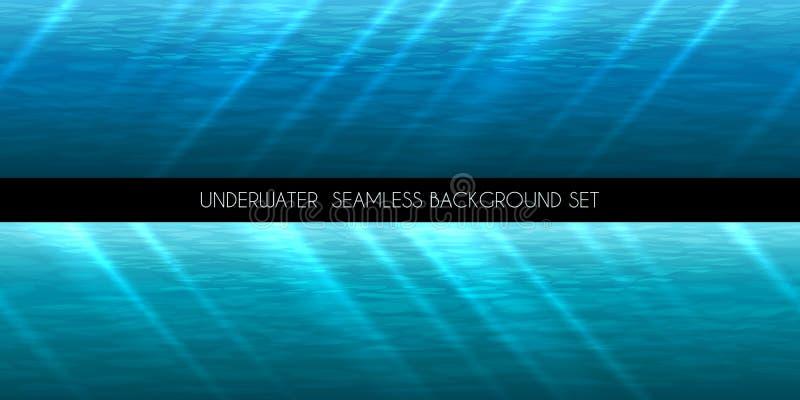Illustrazione senza cuciture subacquea di vettore del fondo illustrazione di stock