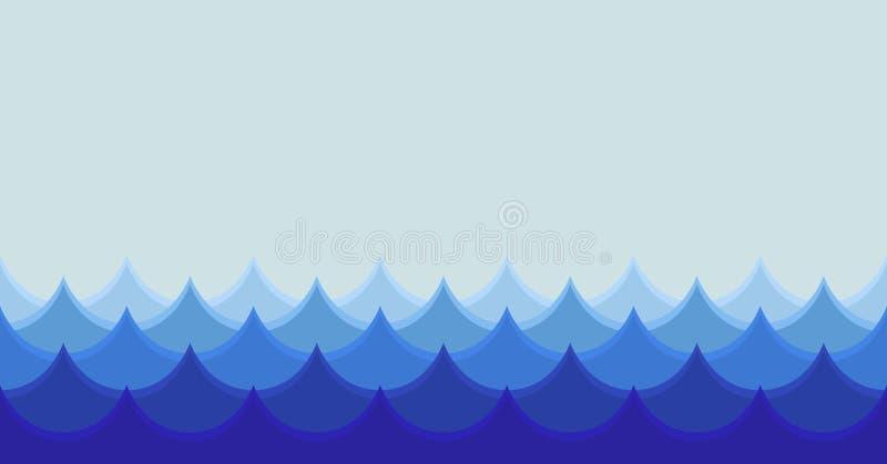 Illustrazione senza giunte delle onde illustrazione vettoriale