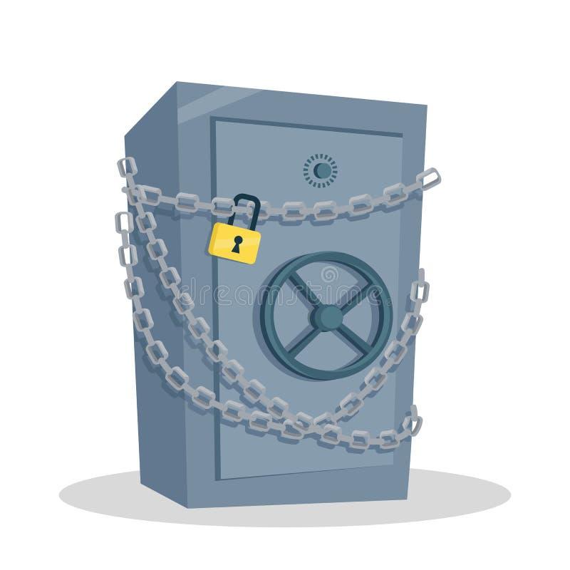 Illustrazione sicura di vettore nella progettazione piana di stile royalty illustrazione gratis