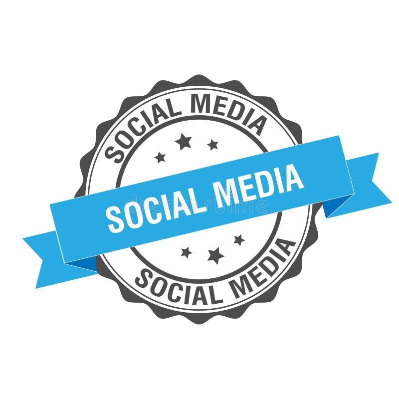 Illustrazione sociale del bollo di media illustrazione di stock