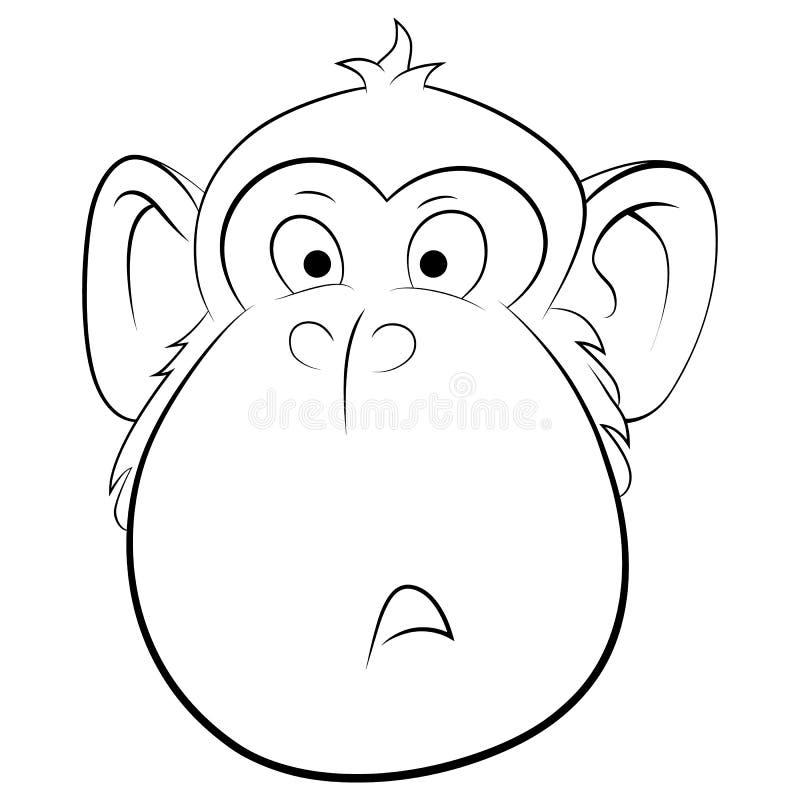 Illustrazione sorpresa della scimmia fotografia stock