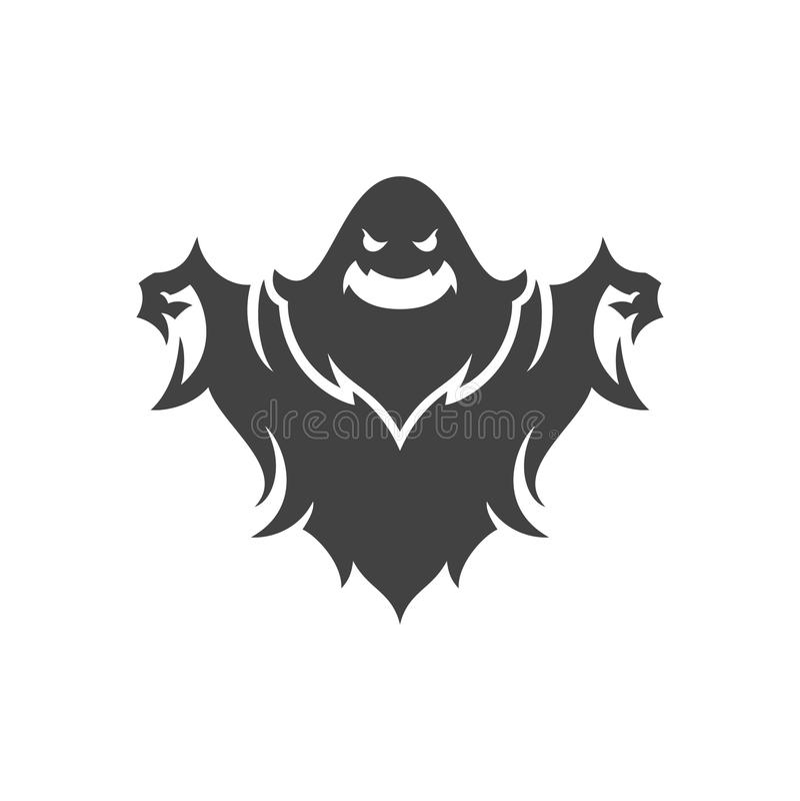 Illustrazione spaventosa di vettore del fantasma di Halloween fotografie stock