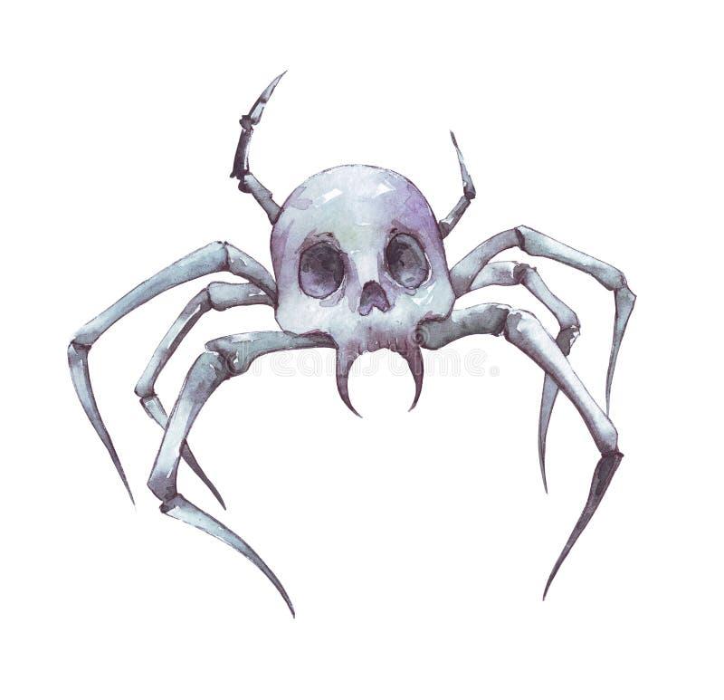 Illustrazione spettrale del cranio dell'aracnide royalty illustrazione gratis
