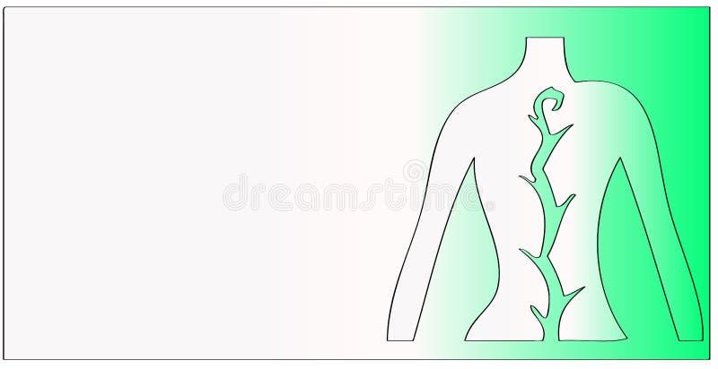 Illustrazione spinale della corda royalty illustrazione gratis