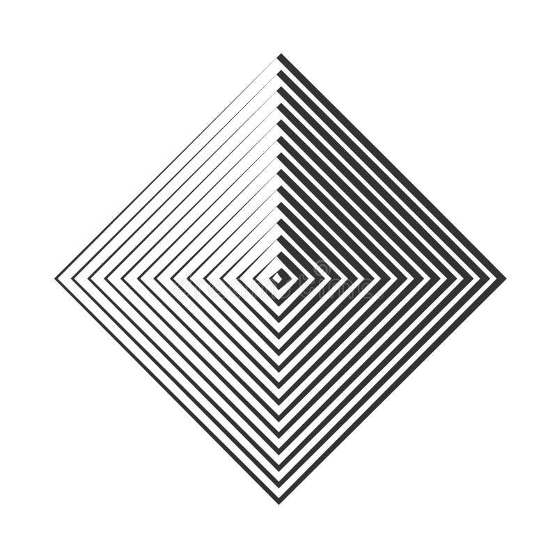 Illustrazione a spirale di vettore dell'elemento Circonda l'elemento geometrico Ambiti di provenienza concentrici royalty illustrazione gratis