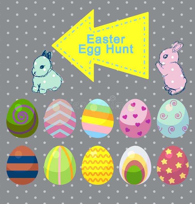 Illustrazione stabilita del fumetto di vettore di coniglio e del coniglietto svegli con la carota illustrazione di stock