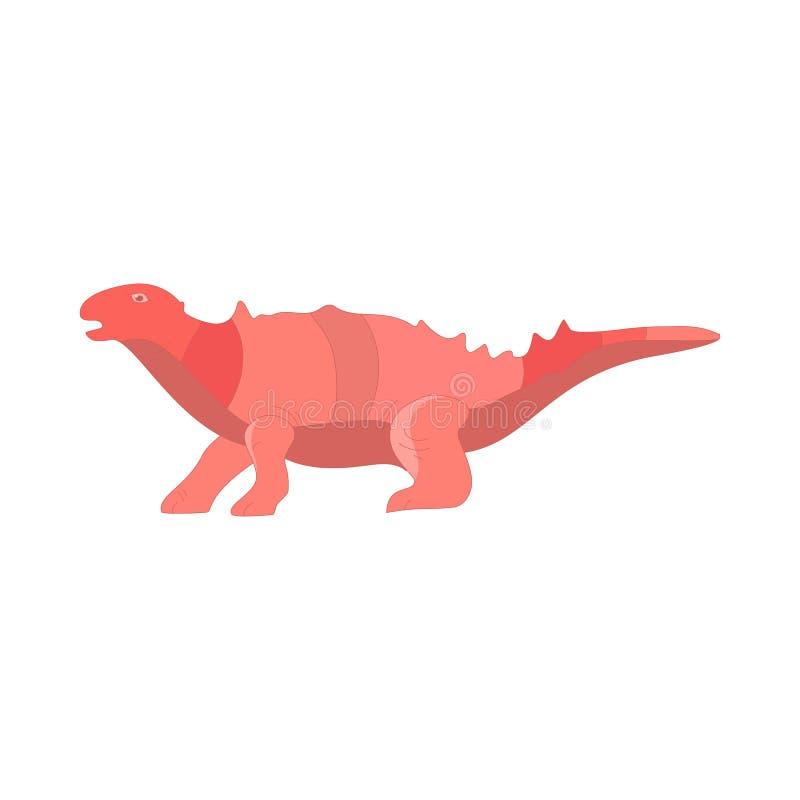 Illustrazione stabilita di vettore della raccolta del fumetto del dinosauro Animale del mostro sveglio dei dinosauri del fumetto  illustrazione di stock