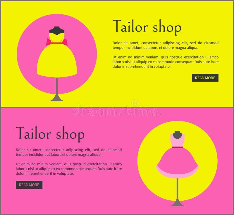 Illustrazione stabilita di vettore di Shop Web Pages del sarto royalty illustrazione gratis