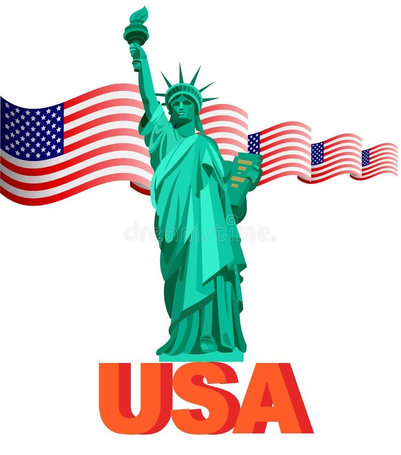 Illustrazione Stati Uniti d'America patriottici, U illustrazione di stock