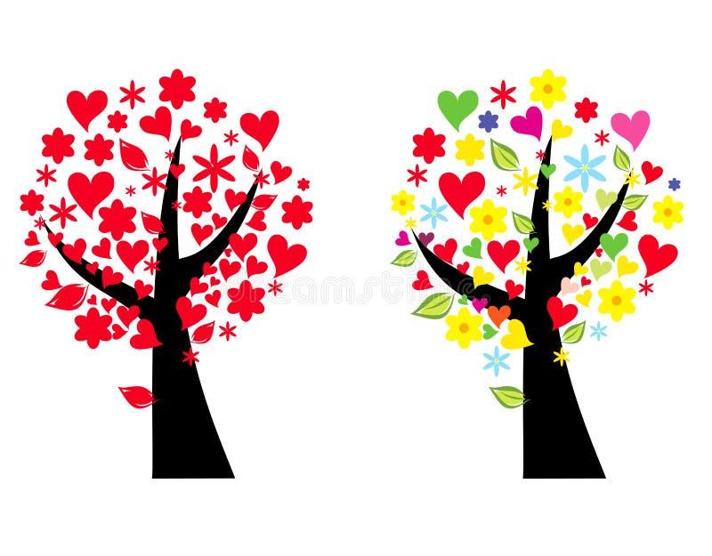 Illustrazione stilizzata dell'albero illustrazione vettoriale