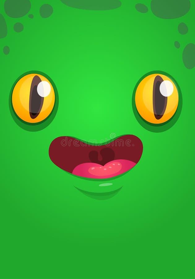 Illustrazione straniera dell'avatar della creatura del fumetto del fronte illustrazione di stock