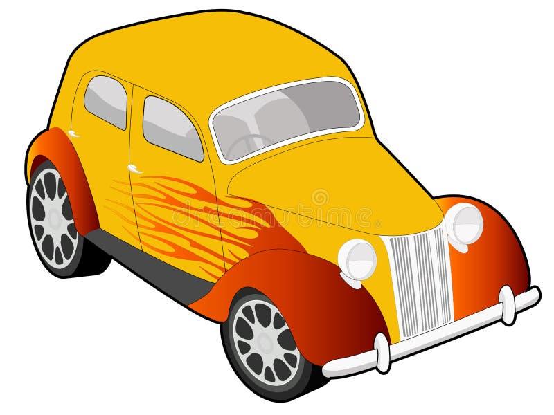 Illustrazione su ordinazione dell'automobile illustrazione vettoriale