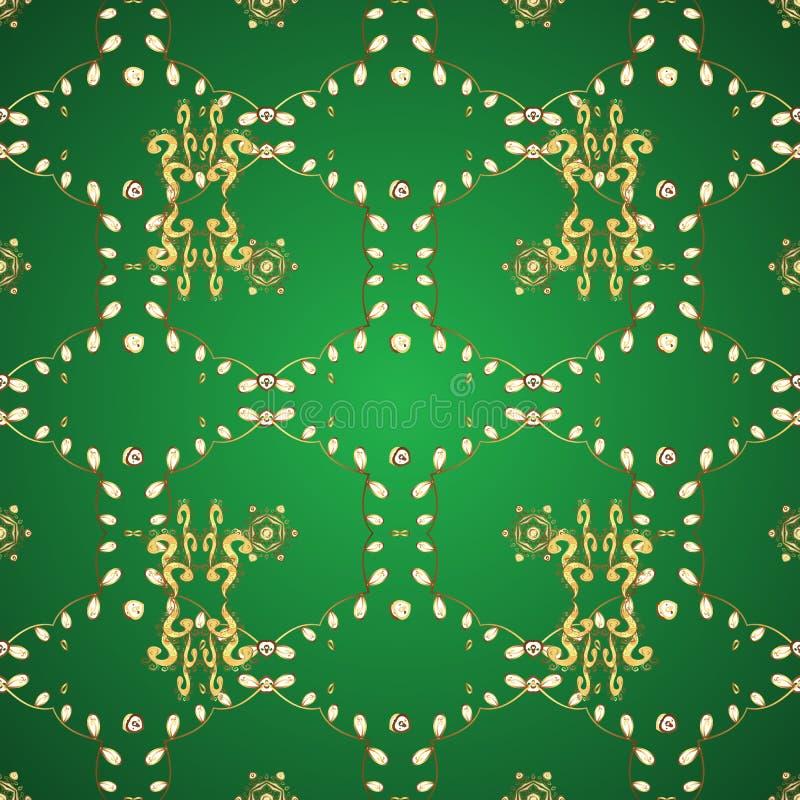 Illustrazione sui colori verdi e gialli royalty illustrazione gratis