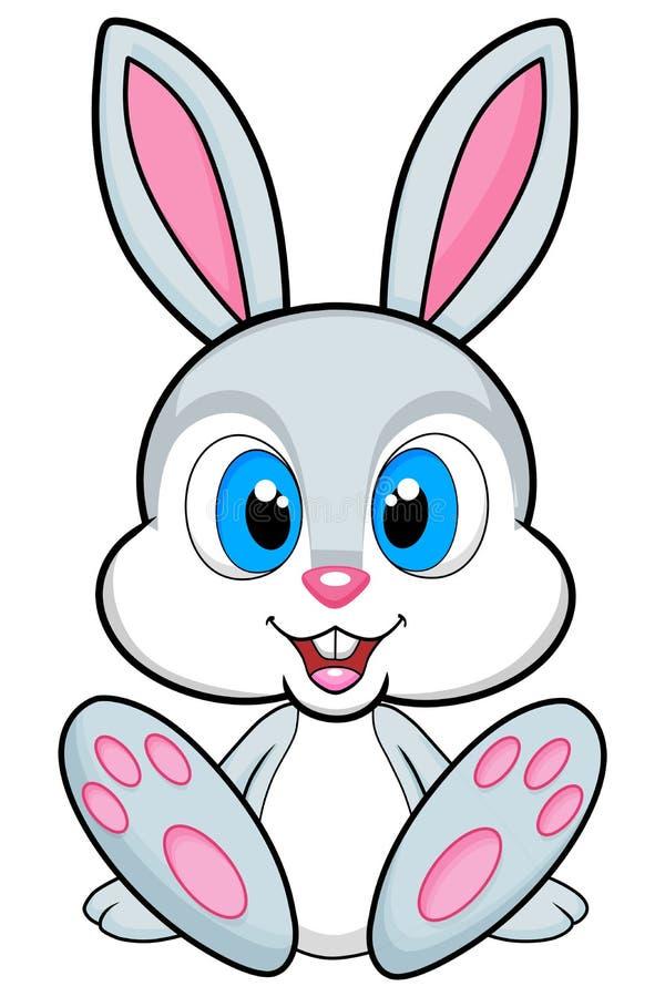 Illustrazione sveglia del coniglietto su fondo bianco Png disponibile illustrazione di stock