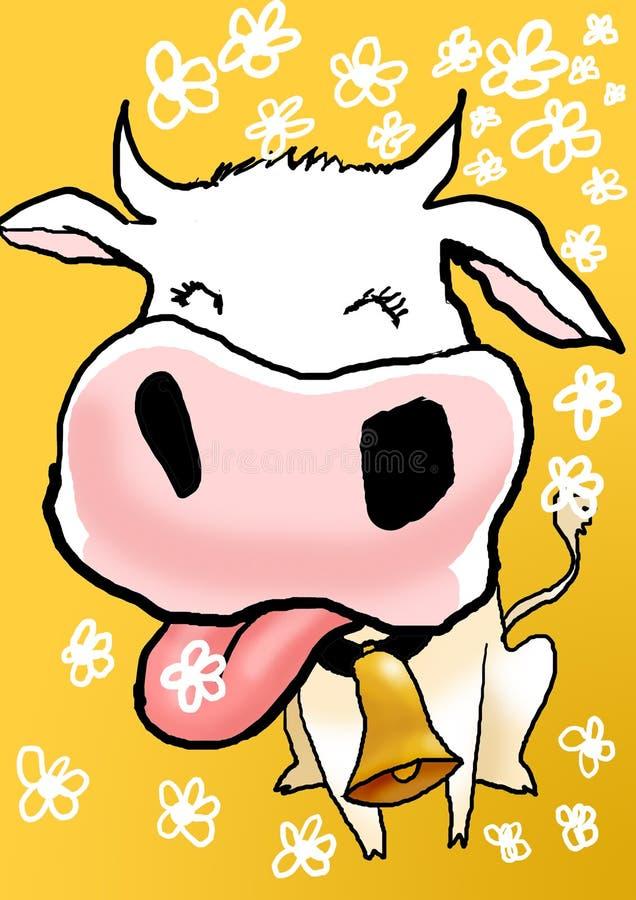 Illustrazione sveglia della mucca fotografia stock
