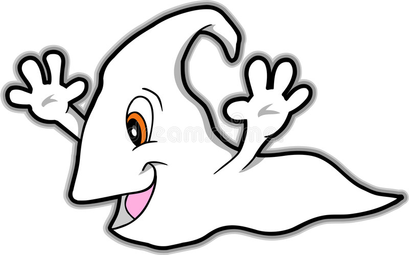 Illustrazione sveglia di vettore del fantasma illustrazione vettoriale