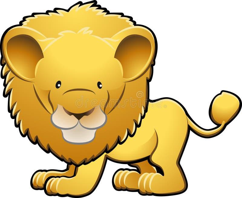 Illustrazione sveglia di vettore del leone illustrazione vettoriale
