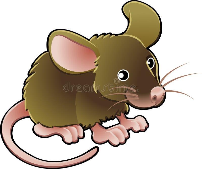Illustrazione sveglia di vettore del mouse illustrazione di stock