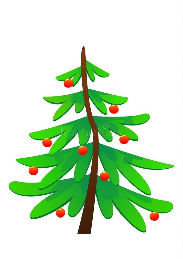 Illustrazione sveglia di vettore dell'albero di Natale illustrazione vettoriale