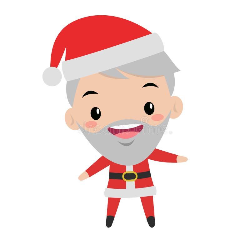Illustrazione sveglia sorridente di natale di Santa illustrazione vettoriale