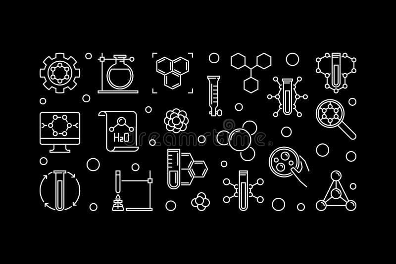 Illustrazione teorica del profilo di concetto di chimica di vettore illustrazione di stock