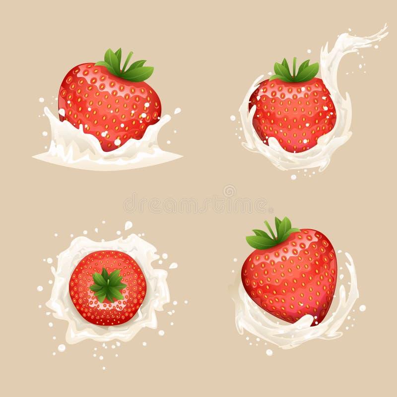 Illustrazione trasparente realistica di vettore di progettazione del fondo 3d del latte del ricciolo della spruzzata di gocce del illustrazione vettoriale
