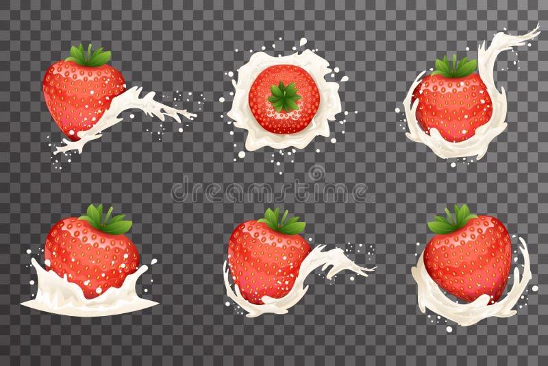 Illustrazione trasparente realistica di vettore di progettazione del fondo 3d della frutta di gocce della spruzzata del ricciolo  illustrazione di stock