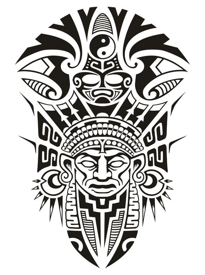 Illustrazione tribale antica di vettore della maschera royalty illustrazione gratis