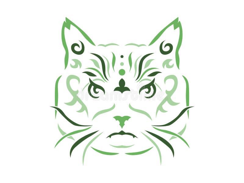 Illustrazione tribale del gatto royalty illustrazione gratis