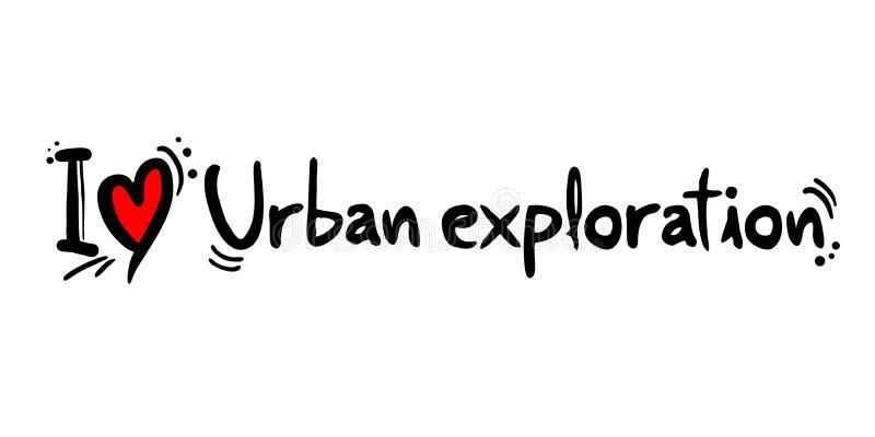 Illustrazione urbana di esplorazione illustrazione di stock