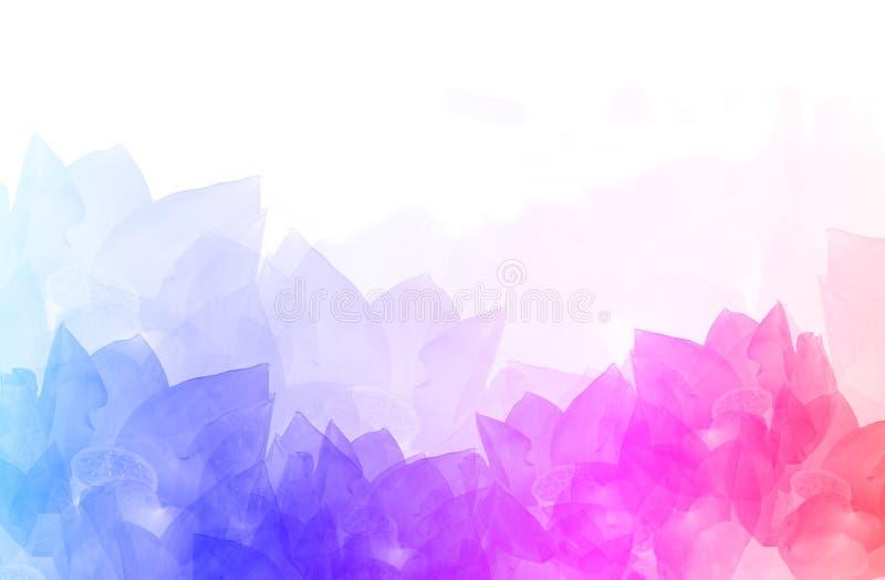 Illustrazione variopinta astratta del fondo del fiore fotografie stock libere da diritti
