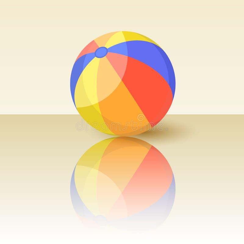 Illustrazione variopinta di vettore del beach ball royalty illustrazione gratis