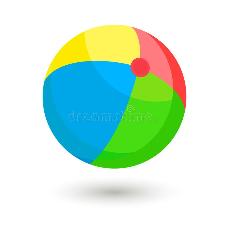 Illustrazione variopinta di vettore del beach ball illustrazione vettoriale