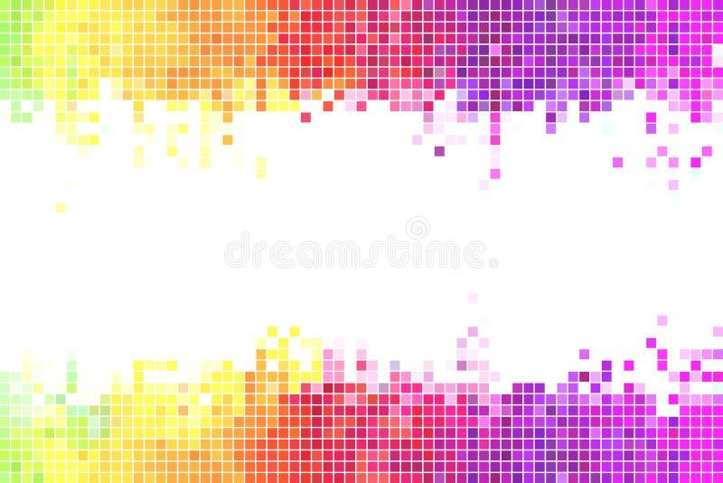 Illustrazione variopinta di vettore del fondo dei pixel illustrazione di stock