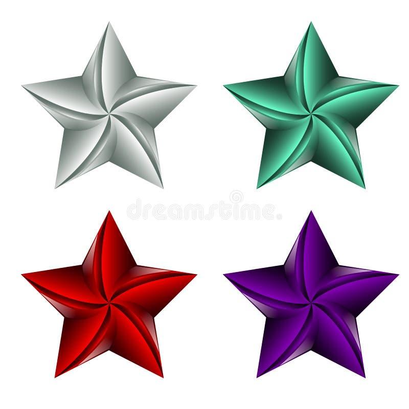 Illustrazione variopinta di vettore dell'icona della stella isolata su fondo bianco illustrazione di stock