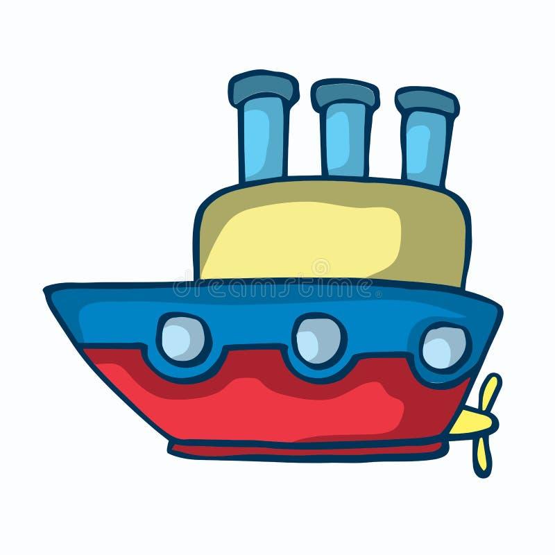Illustrazione variopinta di vettore della nave di pirata illustrazione di stock