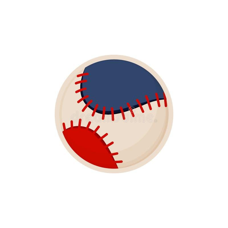 Illustrazione variopinta di vettore di schizzo della palla di baseball royalty illustrazione gratis