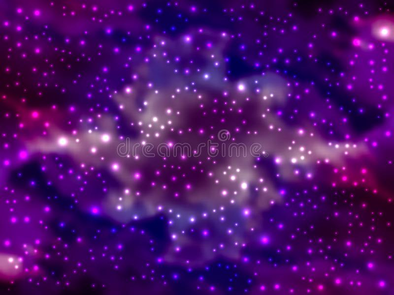 Illustrazione variopinta luminosa dell'universo di vettore Universo brillante luminoso con le stelle tremule Romanzo, spazio prof illustrazione vettoriale