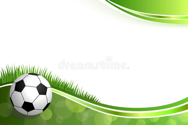 Illustrazione verde astratta della palla di sport di calcio di calcio del fondo illustrazione di stock