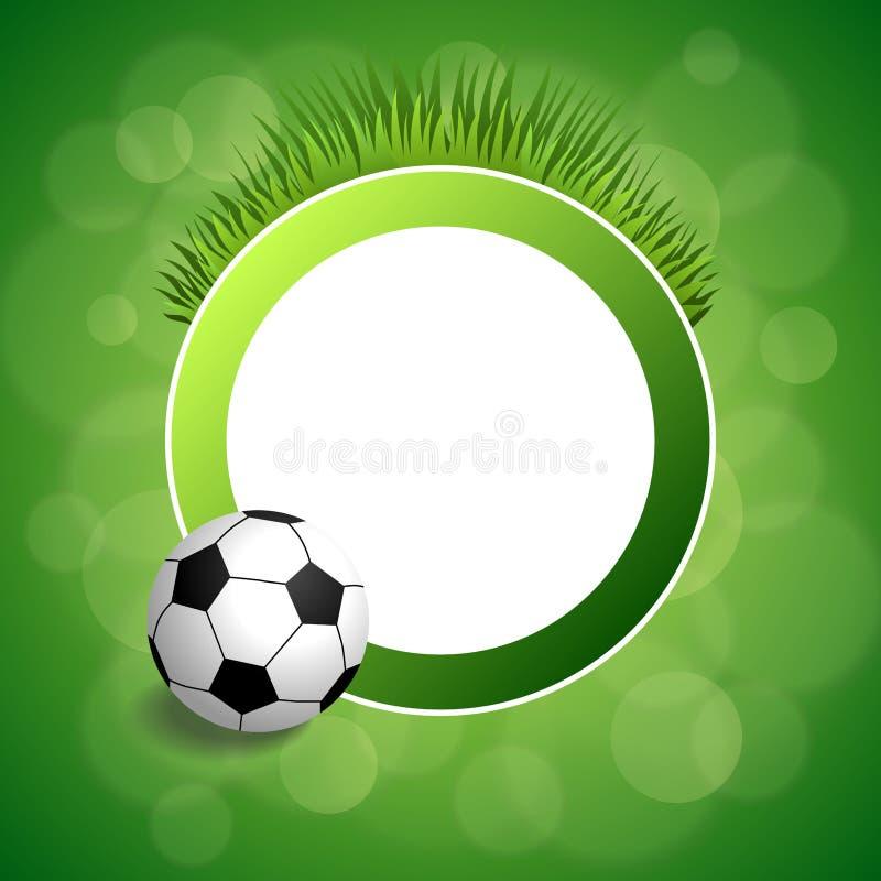 Illustrazione verde astratta della struttura del cerchio del pallone da calcio di calcio del fondo royalty illustrazione gratis