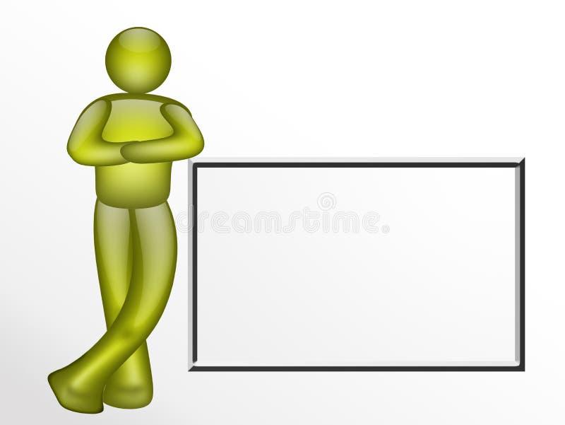 Illustrazione verde in bianco illustrazione vettoriale