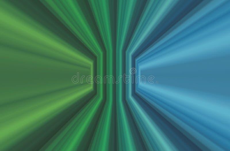 Illustrazione verde/blu astratta modello/di progettazione illustrazione di stock
