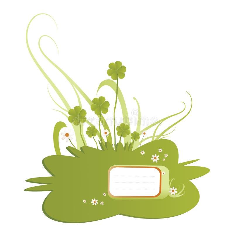 Illustrazione verde dell'acetosella royalty illustrazione gratis