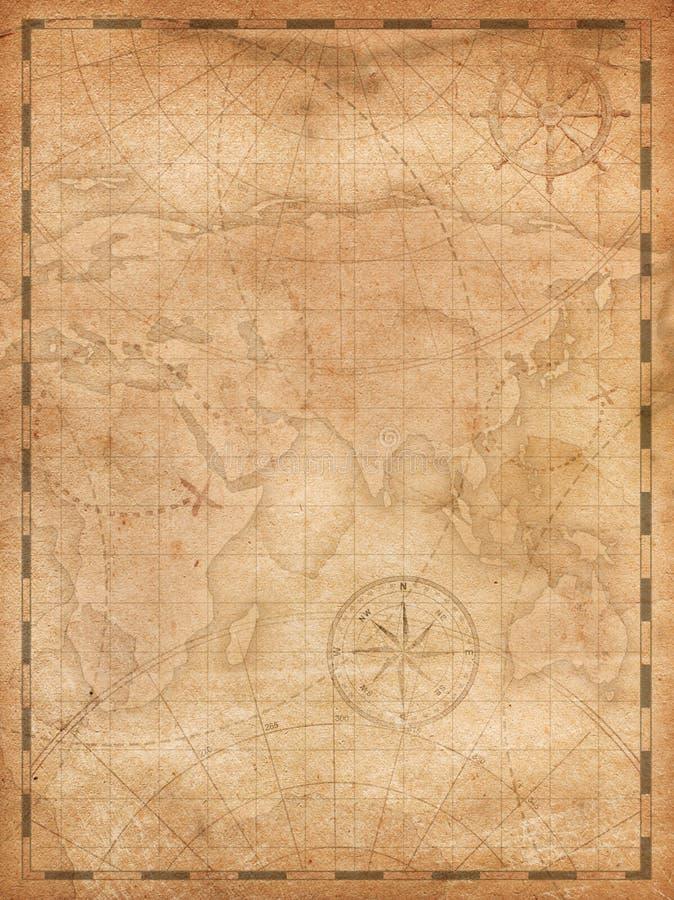 Illustrazione verticale del fondo della mappa del tesoro dei pirati royalty illustrazione gratis