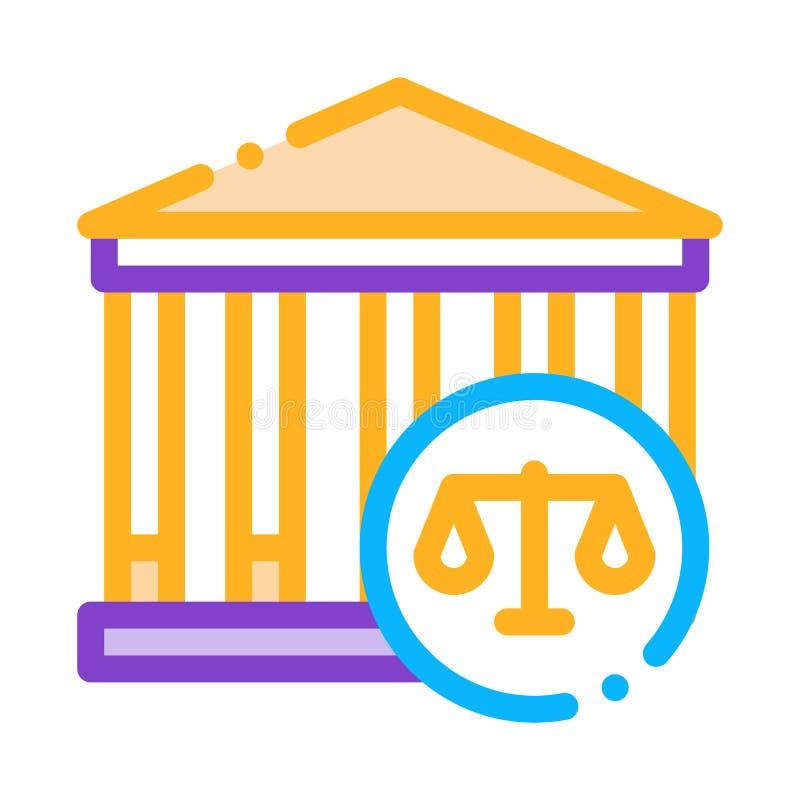 Illustrazione Vettoriale Della Legge E Del Giudizio illustrazione di stock