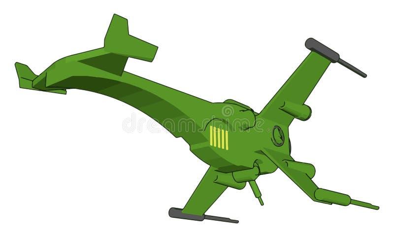Illustrazione vettoriale di un incrociatore di fantasia illustrazione vettoriale