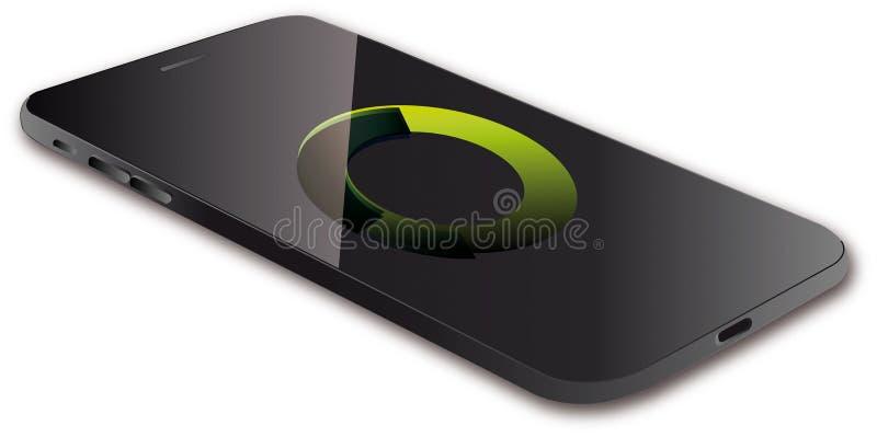 Illustrazione visiva di vettore di Smartphone immagini stock